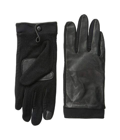 Echo Design - Touch Basic Leather Gloves (Black) Dress Gloves