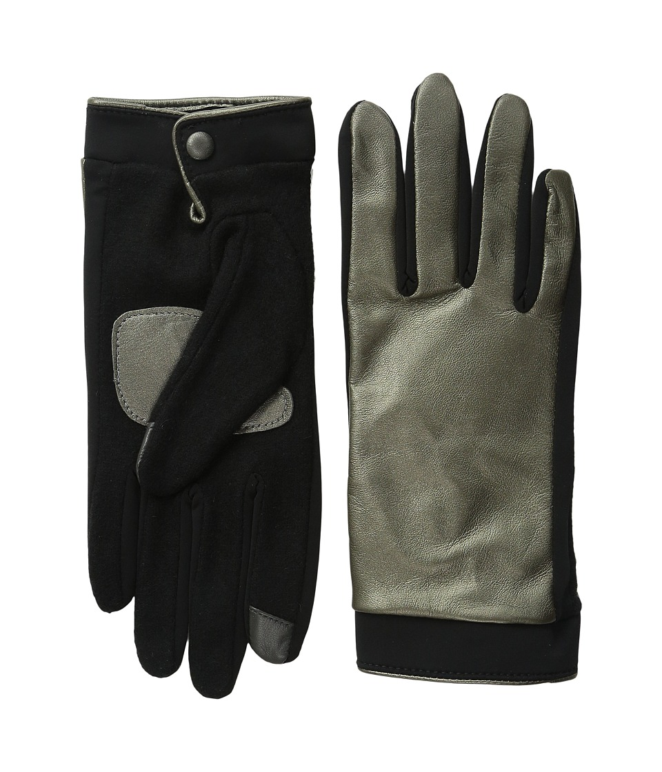 Echo Design - Touch Basic Leather Gloves (Gunmetal) Dress Gloves