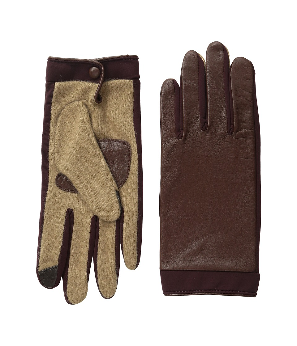 Echo Design - Touch Basic Leather Gloves (Dark Brown) Dress Gloves