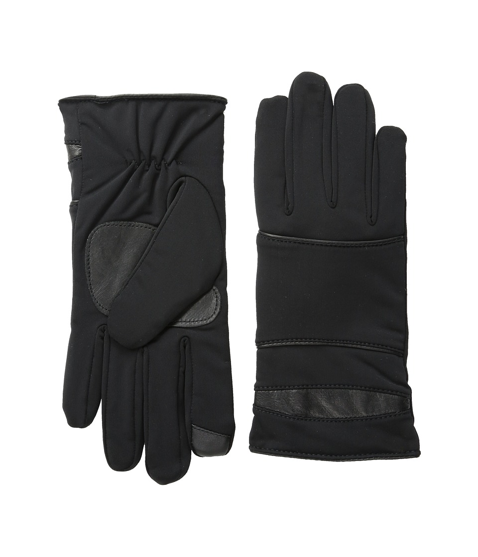 Echo Design - Superfit w/ Leather Piping Gloves (Black) Dress Gloves