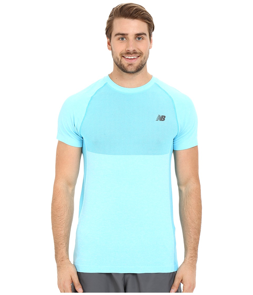 New Balance - M4M Seamless Short Sleeve Top (Bayside Heather) Men's Short Sleeve Pullover