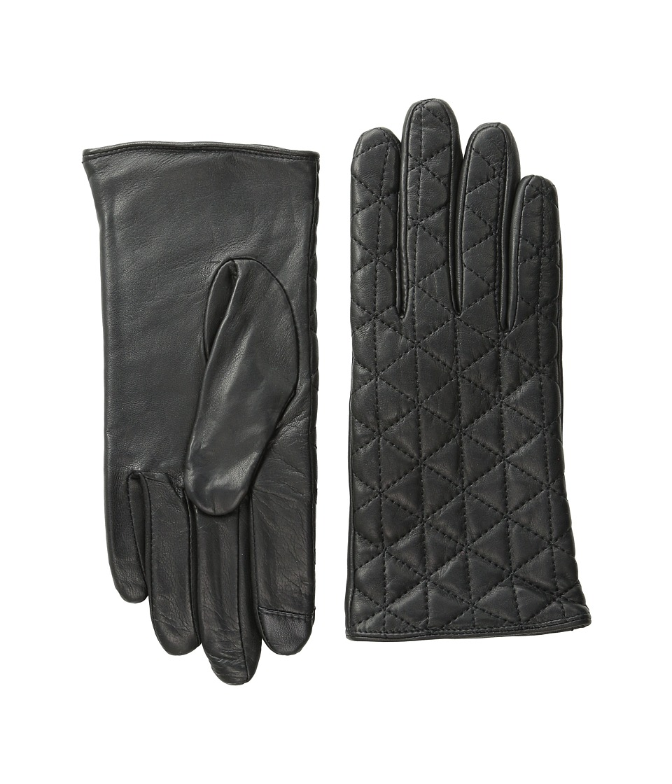 Echo Design - Touch Quilted Diamond Gloves (Black) Dress Gloves