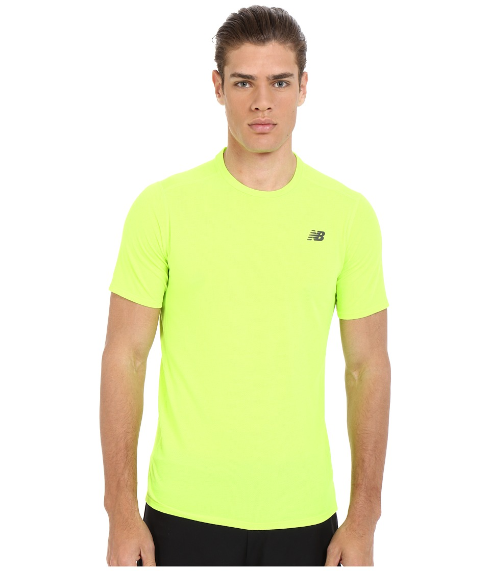 New Balance - Pindot Flux Short Sleeve Top (Toxic) Men