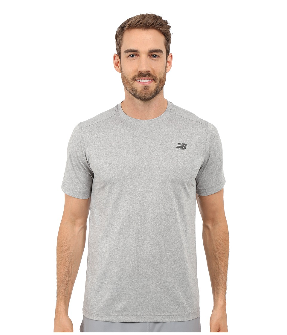 New Balance - Short Sleeve Heather Tech Tee (Heather Grey) Men's T Shirt