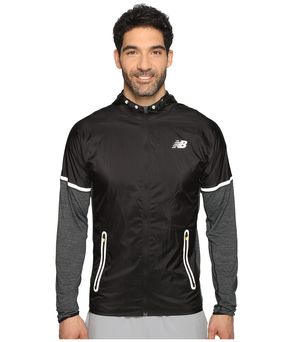 New Balance - Performance Merino Hybrid Jacket (Black/Black) Men's Coat