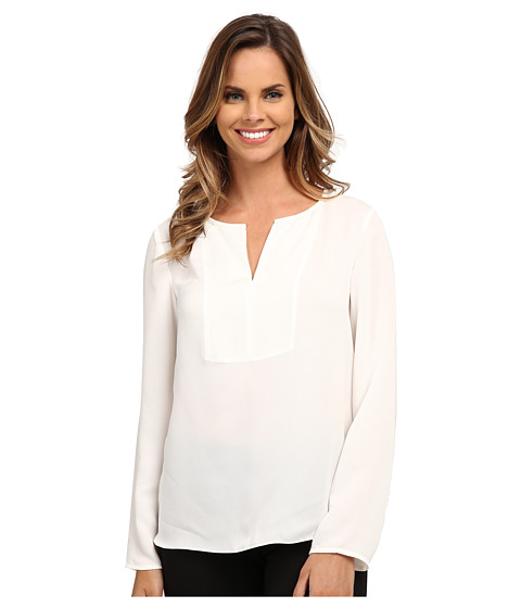 Adrianna Papell - Tunic Top with Front Panel (Ivory) Women's Blouse