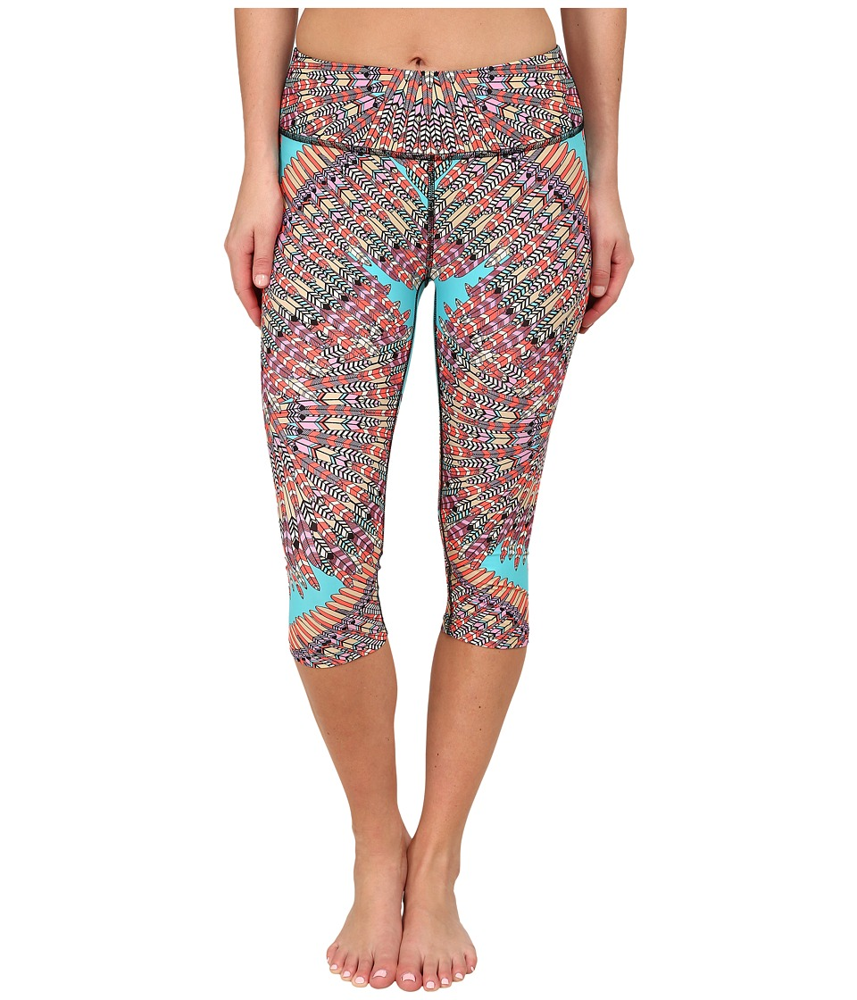 Mara Hoffman - Cropped Leggings (Skybird Turquoise) Women's Workout