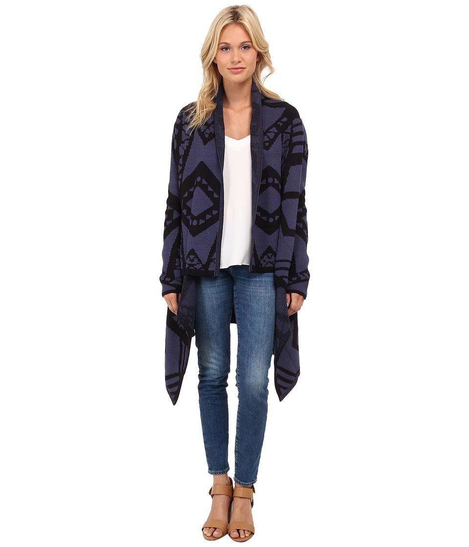 Blank NYC - Detailed Long Sweater (Blue/Black) Women