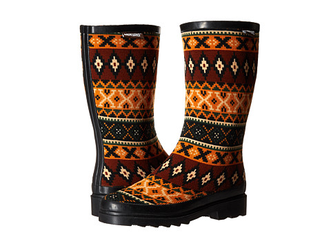 MUK LUKS - Anabelle (Black Safari Fair Isle) Women