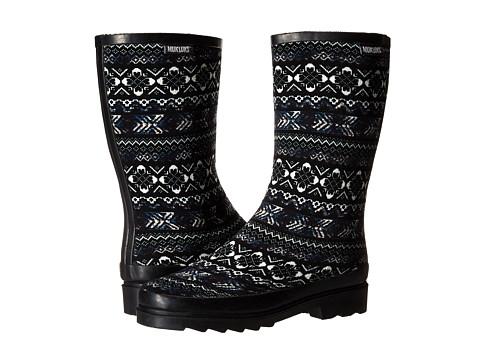 MUK LUKS - Anabelle (Indigo Fair Isle) Women's Rain Boots