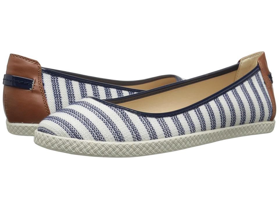 Nine West - Royalli (Navy/White Multi Fabric) Women's Flat Shoes