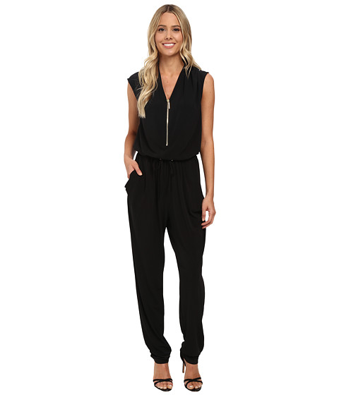 rsvp - Brooklyn Zipper Jumpsuit (Black) Women's Jumpsuit & Rompers One Piece