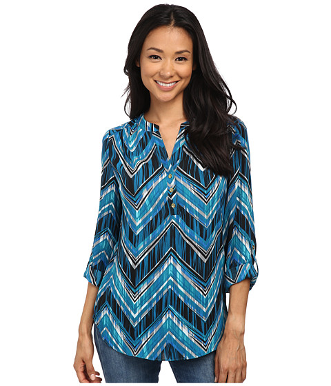 rsvp - Grace Long Sleeve Top (Teal/Blue) Women