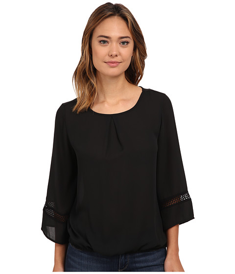 rsvp - Celine Flared Sleeves (Black) Women's Blouse