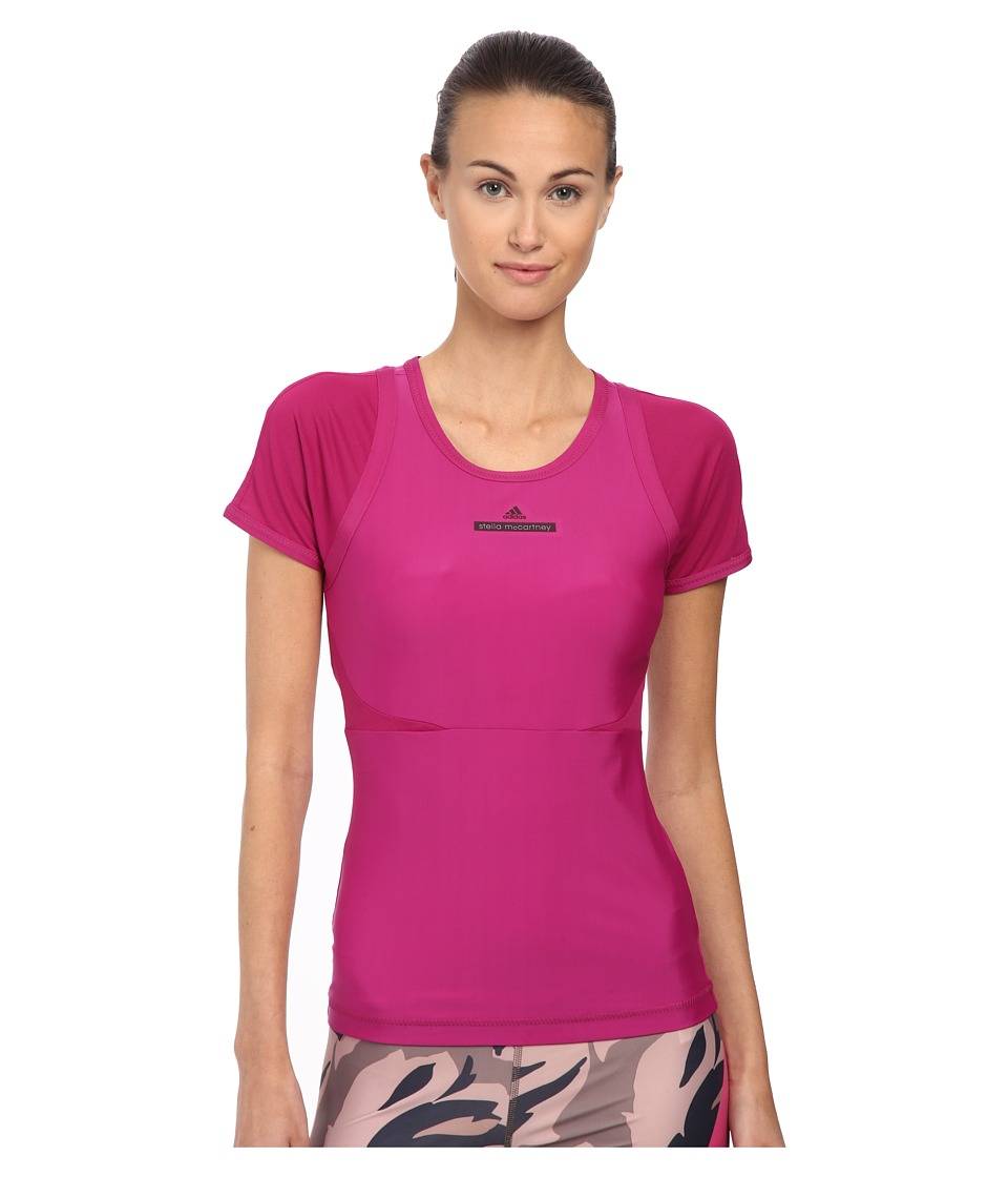 adidas by Stella McCartney - Studio Perf Tee AH9230 (Fuchsia) Women's Workout