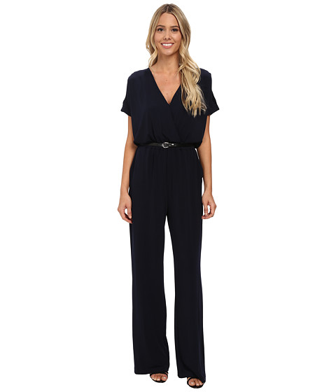 rsvp - Evelyn Belted Jumpsuit (Navy) Women's Jumpsuit & Rompers One Piece