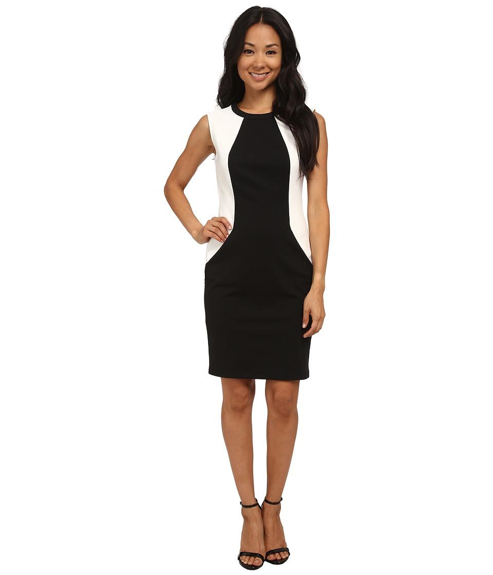 rsvp - Audrey Color Block Pocket Dress (Black/White) Women's Dress