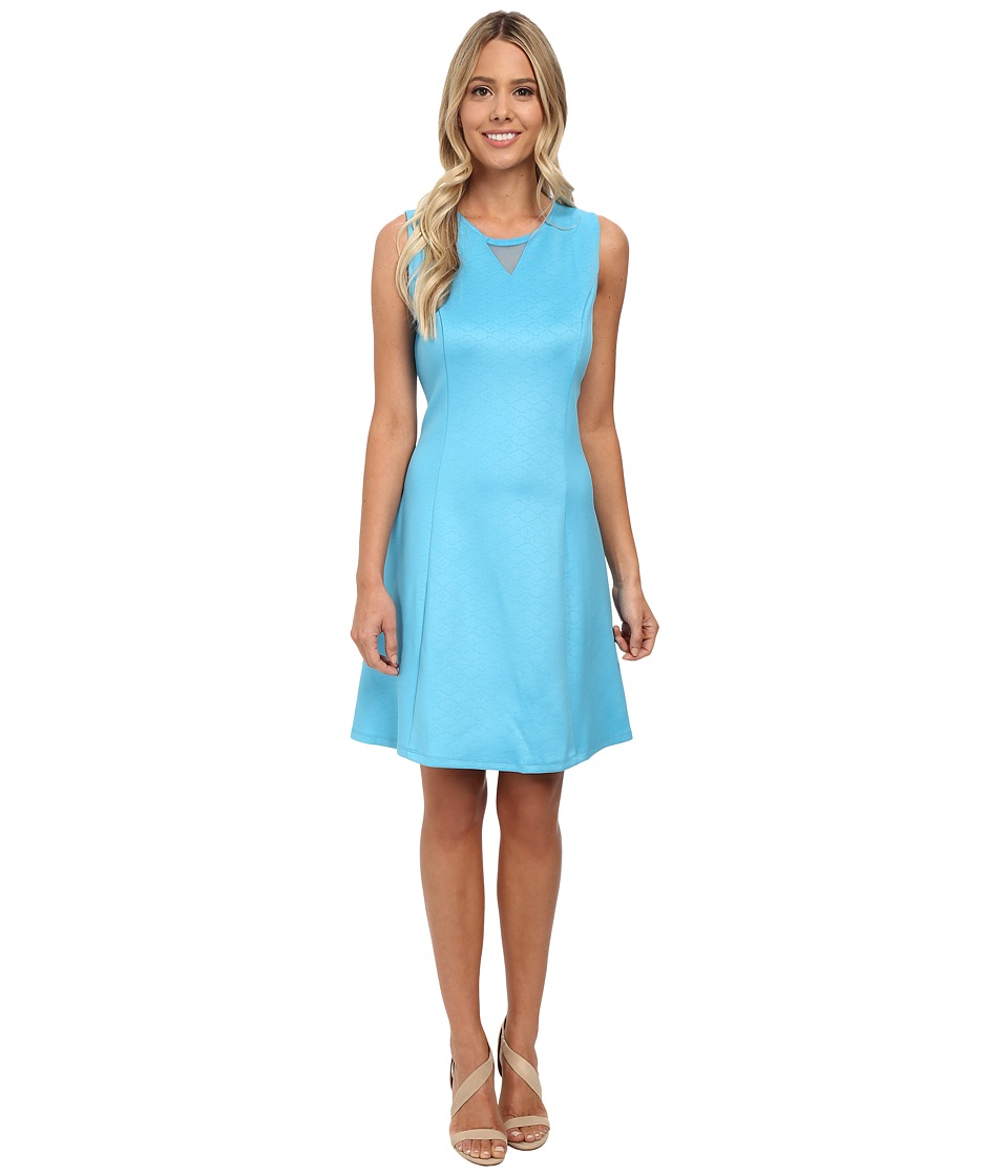 rsvp - Aria Scuba Dress (Teal) Women's Dress