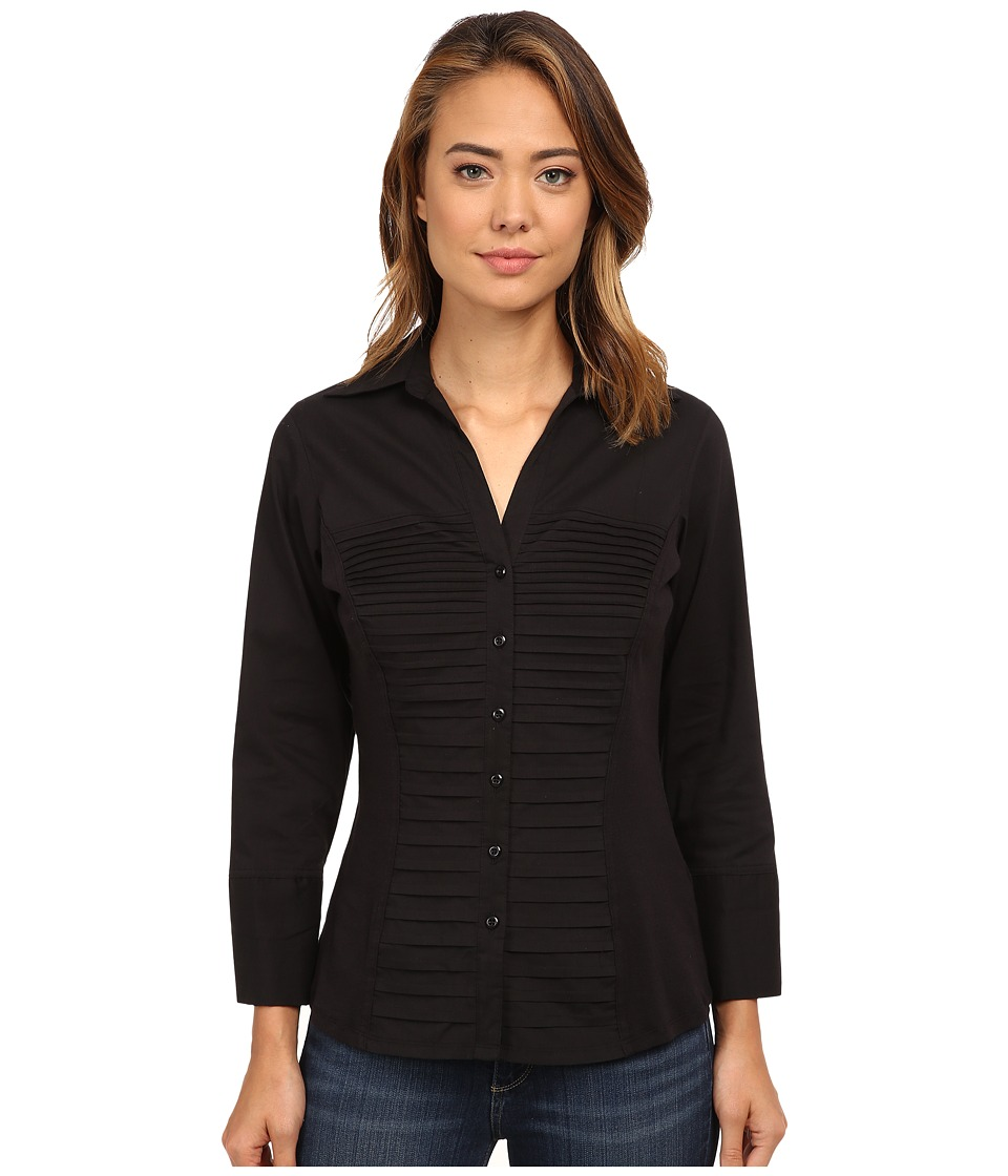 rsvp - Lacey Solid Button Down Shirt (Black) Women