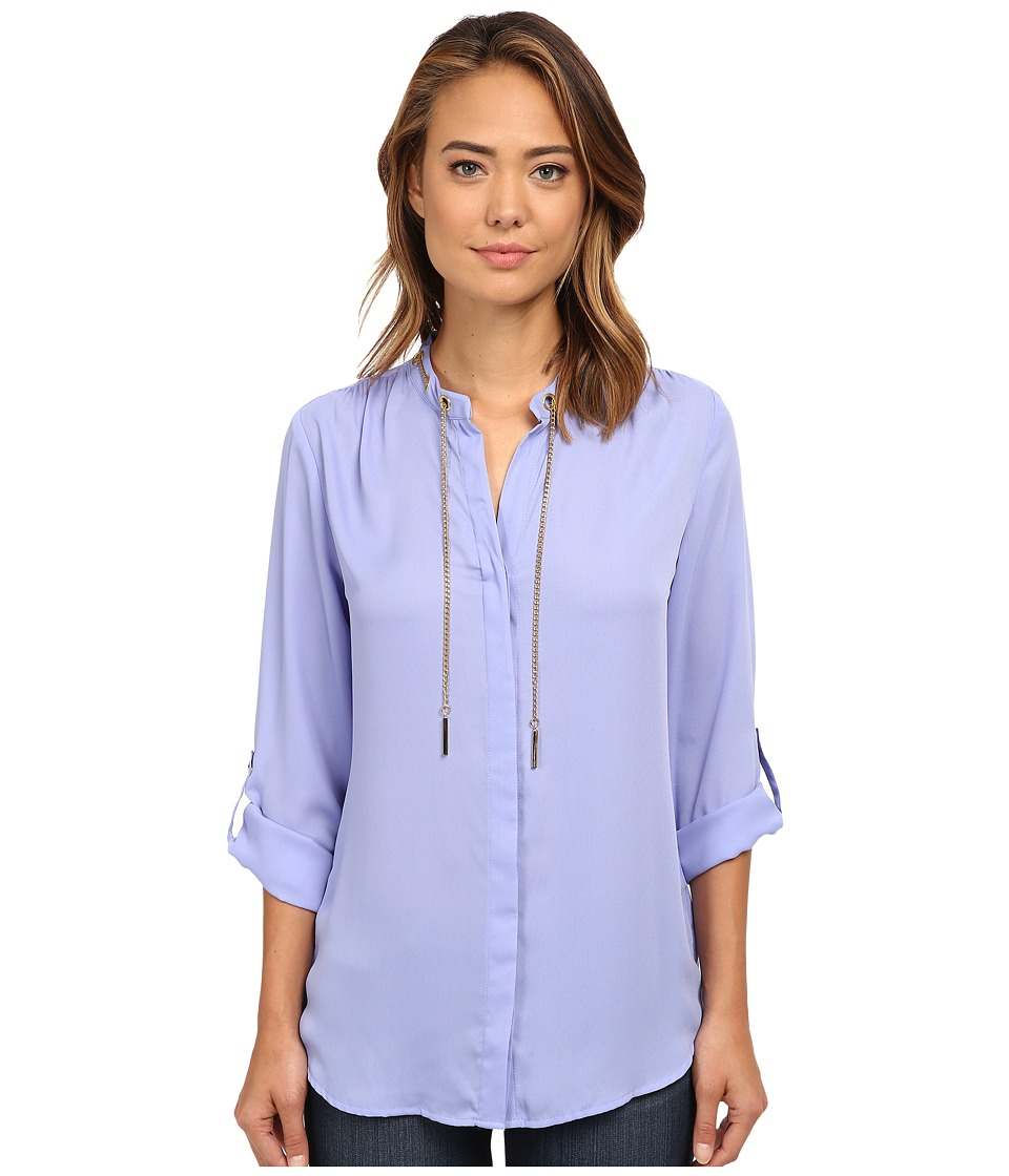 rsvp - Olivia Jewelry Crepe Top (Winter Perriwinkle) Women's Clothing