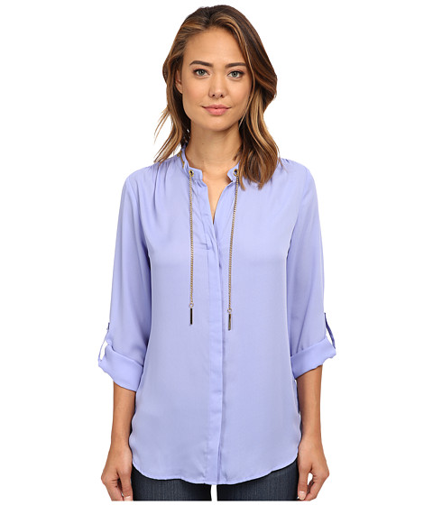rsvp - Olivia Jewelry Crepe Top (Winter Perriwinkle) Women