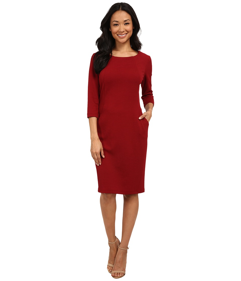 rsvp - Sasha Longless Pocket Dress (Cherry Wine) Women's Dress