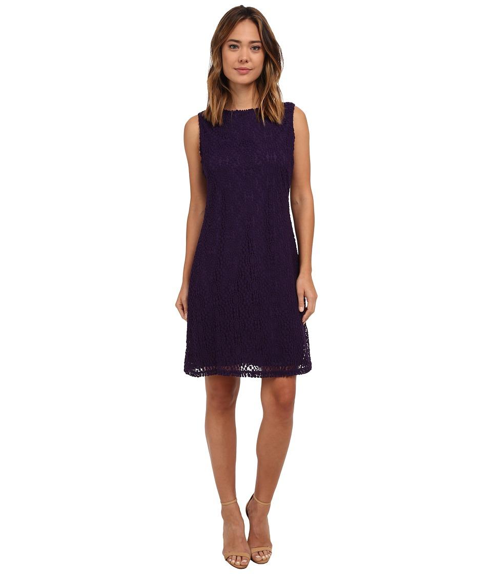 rsvp - Quinn Circular Lace Dress (Eggplant) Women