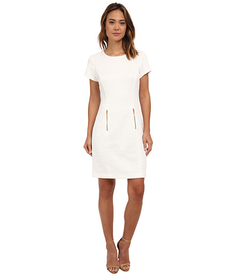 rsvp - Claire Zipper Pockets Dress (Ivory) Women's Dress