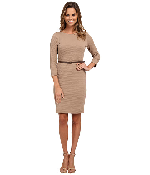 rsvp - Andrea Belted Dress (Mushroom) Women's Dress
