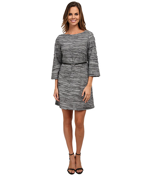 rsvp - Jade Textured Dress (Black/White) Women