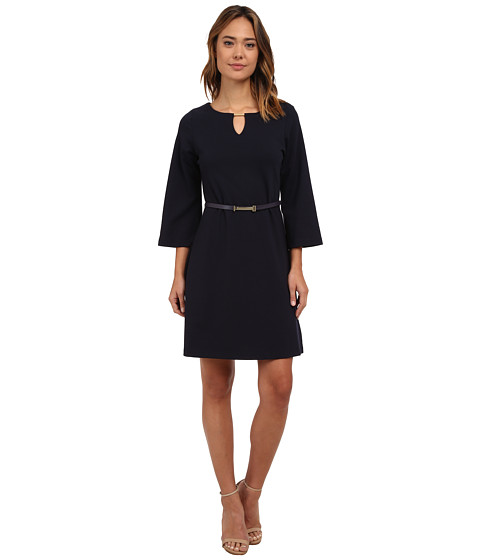 rsvp - Chloe Belted Bell Sleeves (Deep Royal) Women's Dress