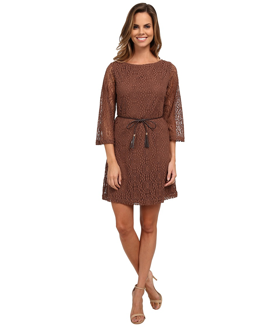 rsvp - Kennedy Circular Lace Tassle Belt (Cocoa Bean) Women's Dress