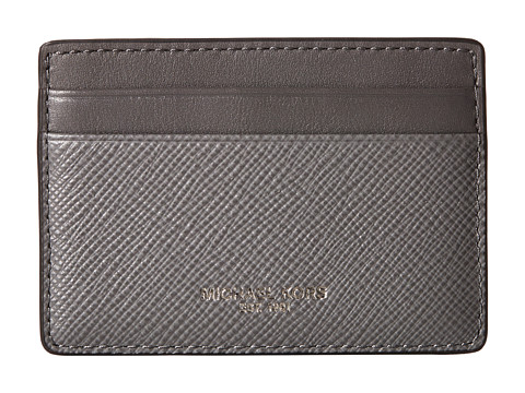 Michael Kors - Harrison Cross Grain Leather Card Case (Grey) Wallet