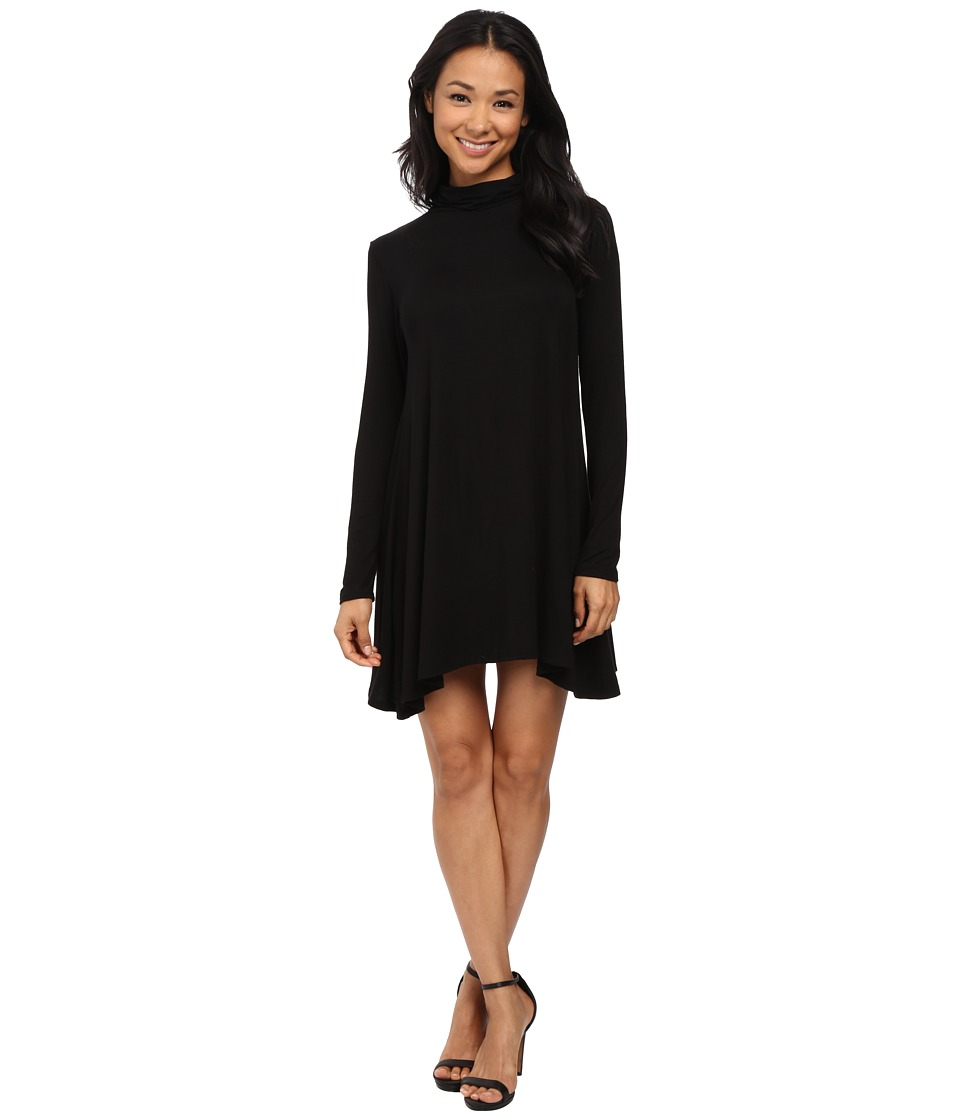 Culture Phit Krystal Turtleneck Dress (Black) Women's Dress