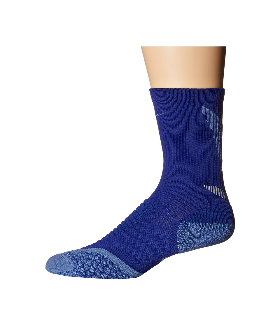 Nike - Elite Running Cushion Crew (Deep Royal Blue/Ocean Fog/Ocean Fog) Crew Cut Socks Shoes