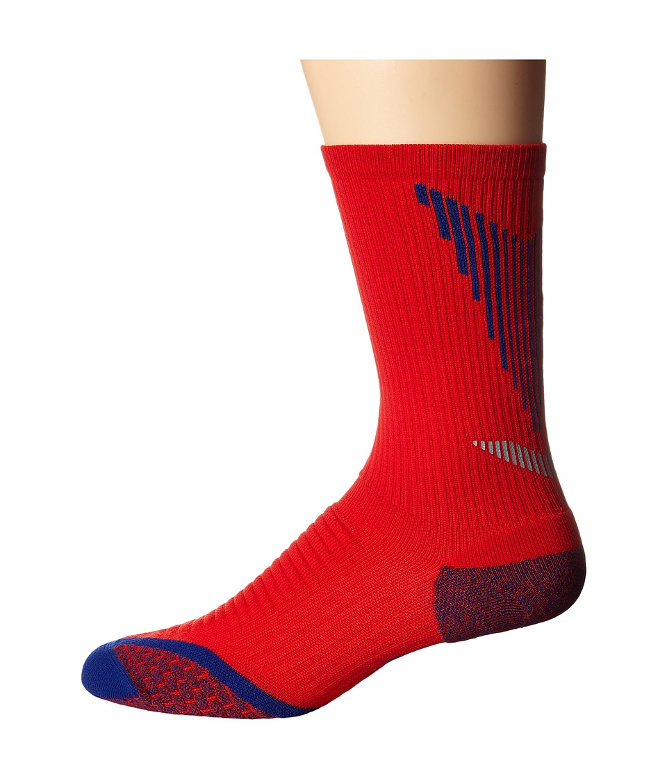 Nike - Elite Running Cushion Crew (University Red/Deep Royal Blue/Deep Royal Blue) Crew Cut Socks Shoes