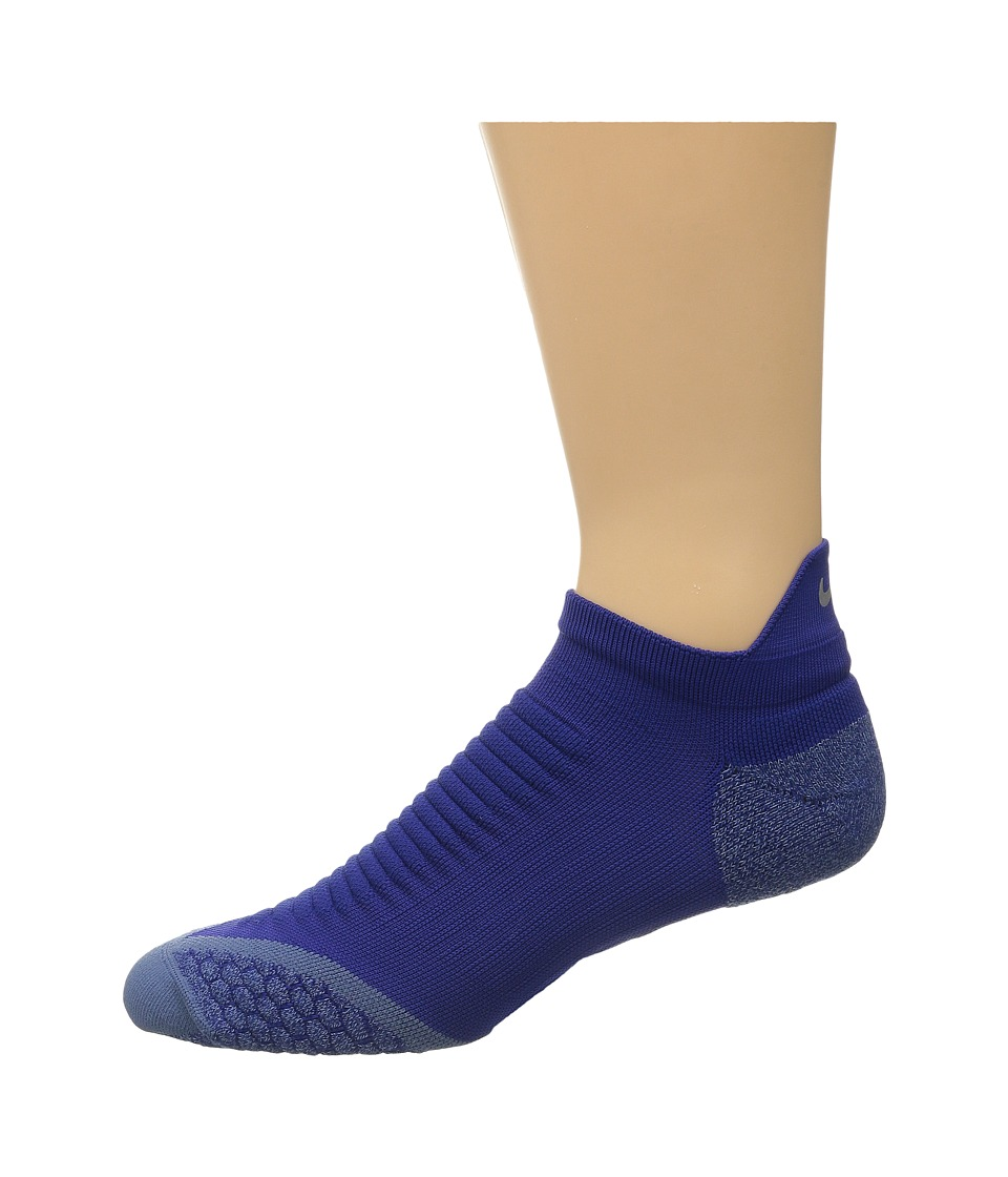 Nike - Elite Running Cushion No Show Tab 1-Pair Pack (Deep Royal Blue/Ocean Fog) No Show Socks Shoes