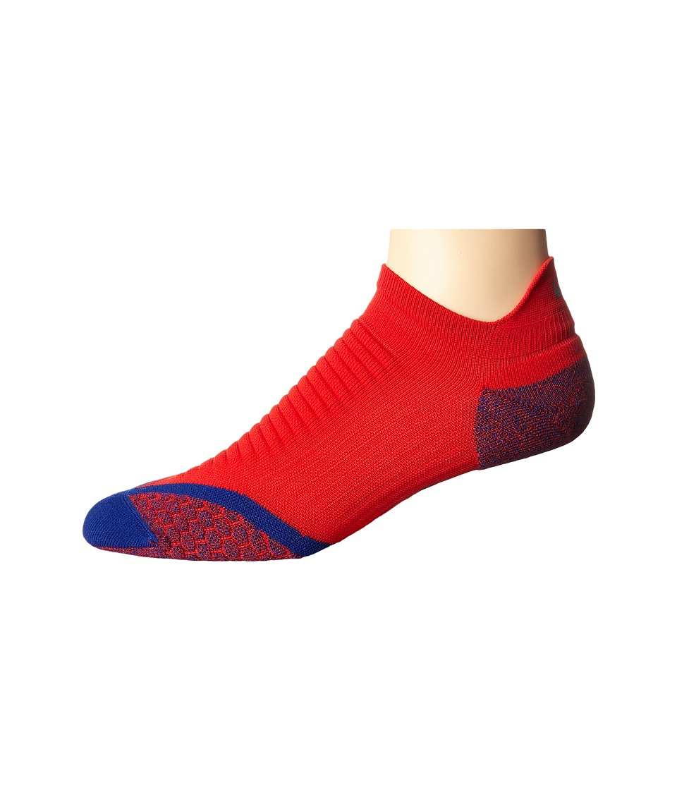 Nike - Elite Running Cushion No Show Tab 1-Pair Pack (University Red/Deep Royal Blue) No Show Socks Shoes