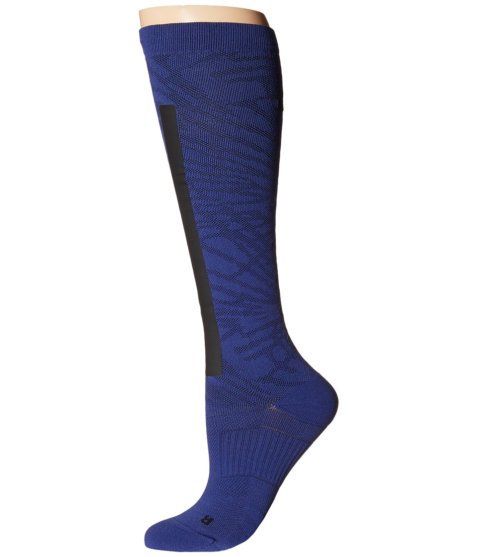 Nike - Elite High Intensity (Deep Royal Blue/Black/Black) Women's Crew Cut Socks Shoes