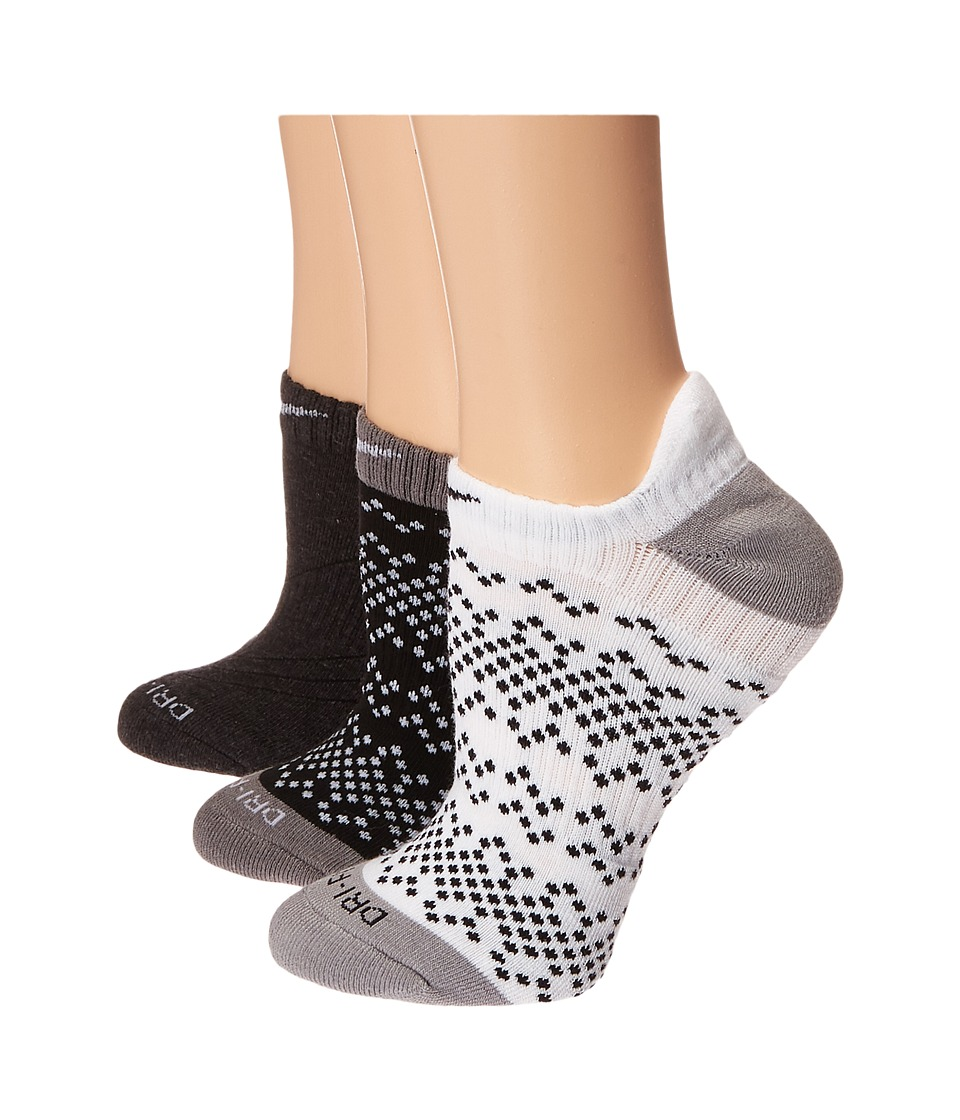 Nike - Dri-Fit Graphic No Show 3-Pair Pack (Multicolor 3) Women's No Show Socks Shoes