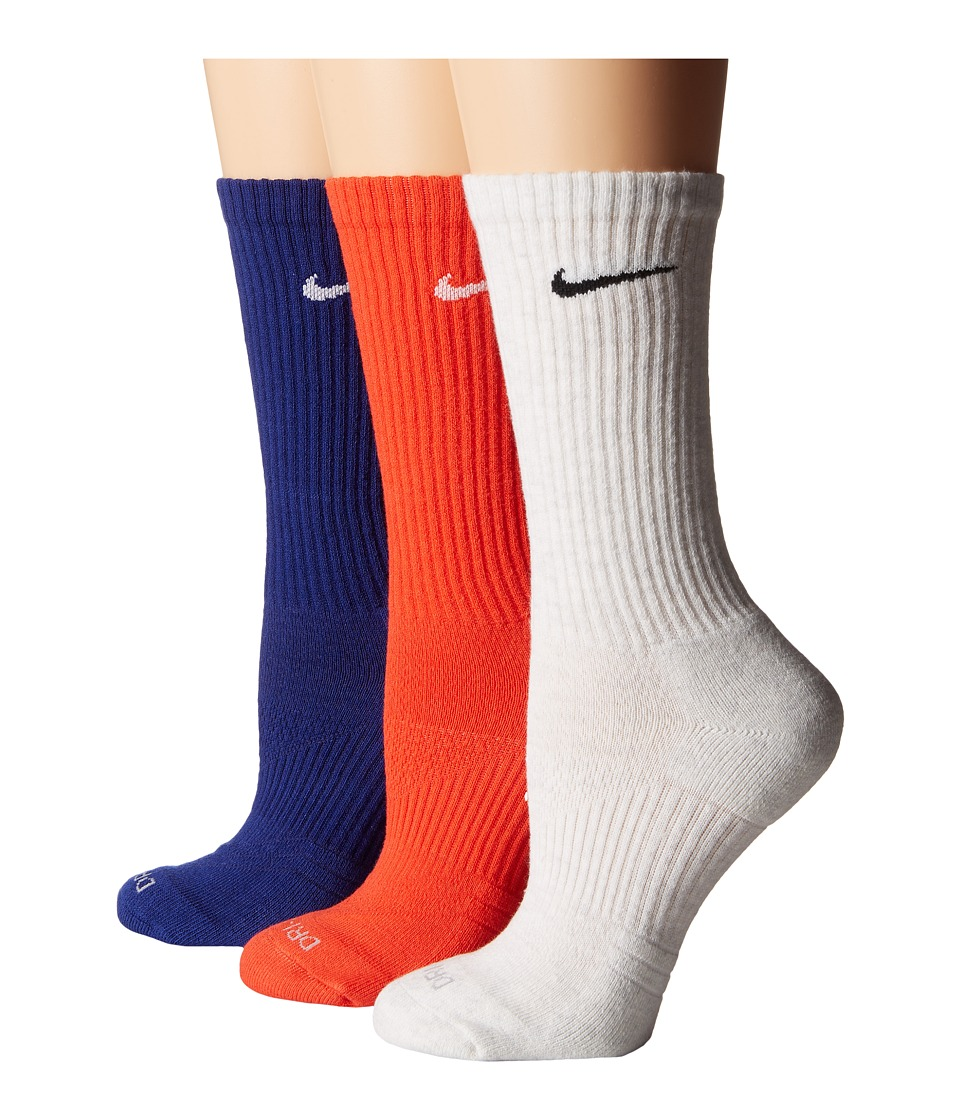 Nike - Dri-Fit Cushion Crew 3-Pair Pack (Multicolor 1) Women's Crew Cut Socks Shoes