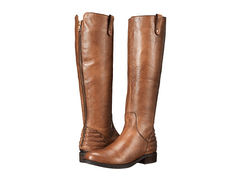 Steve Madden - Arriesw Wide Calf (Cognac Leather) Women's Zip Boots