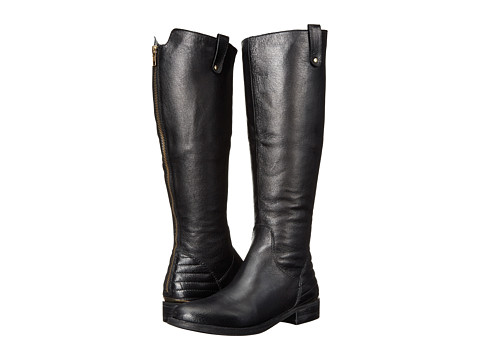 Steve Madden - Arriesw Wide Calf (Black Leather) Women