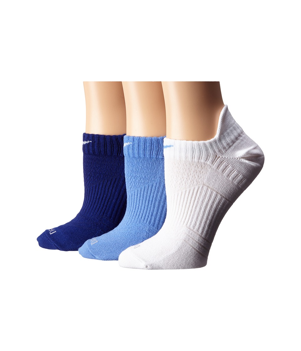 Nike - Dri-Fit Lightweight No Show 3-Pair Pack (Multicolor 1) Women's No Show Socks Shoes