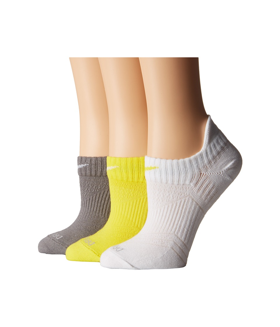 Nike - Dri-Fit Lightweight No Show 3-Pair Pack (Multicolor 2) Women's No Show Socks Shoes