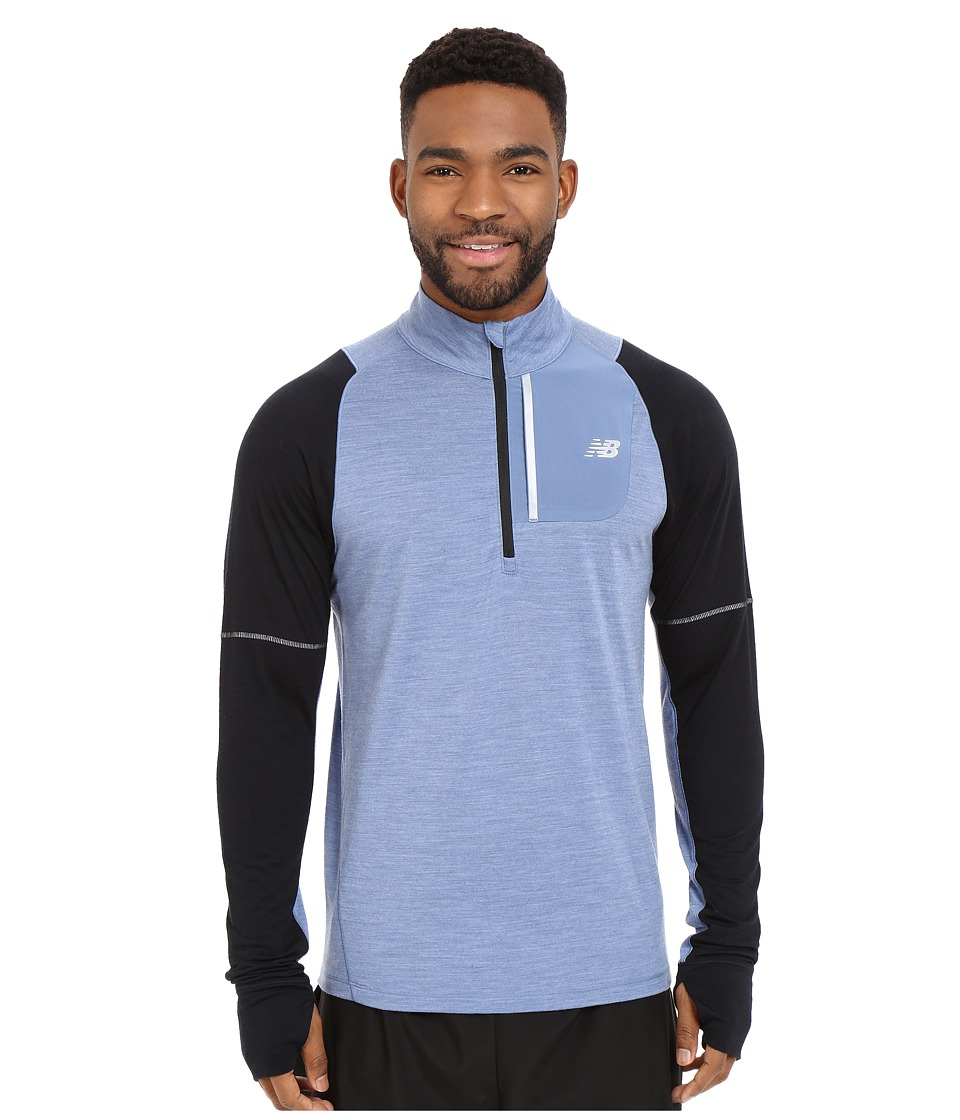 New Balance - Performance Merino Half Zip (Crater/Black) Men's Long Sleeve Pullover