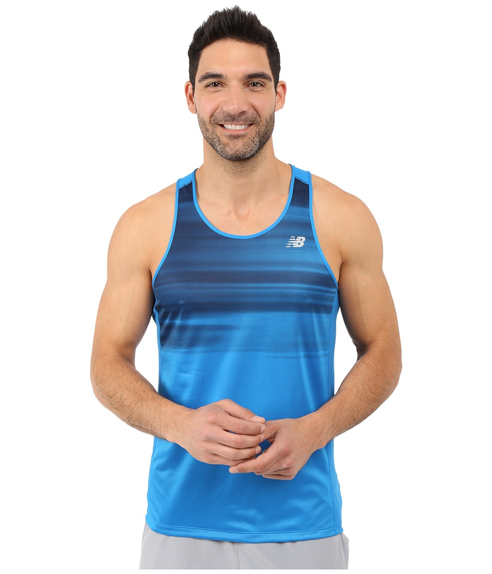 New Balance - NB Ice Singlet (Sonar/Lava) Men's Sleeveless