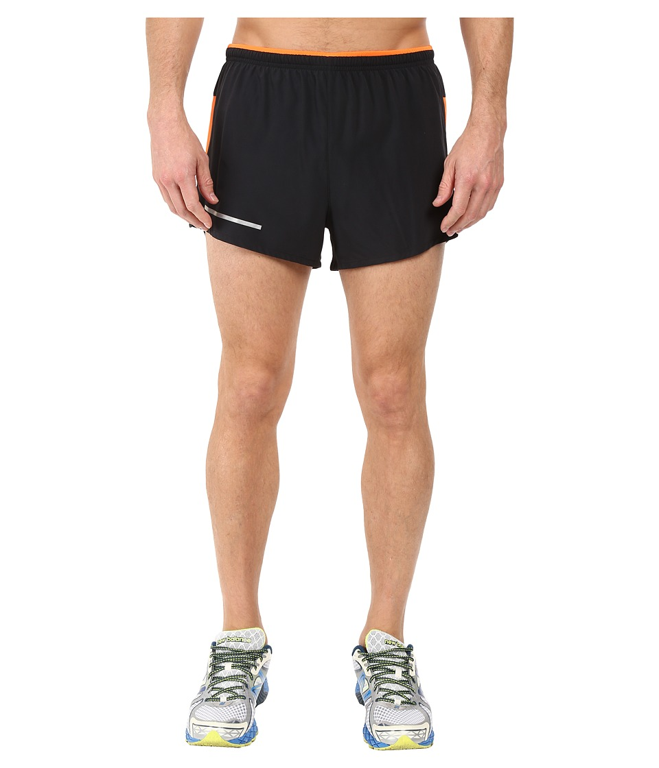 New Balance - Impact 3 Split Shorts (Black/Multi Lava) Men's Shorts