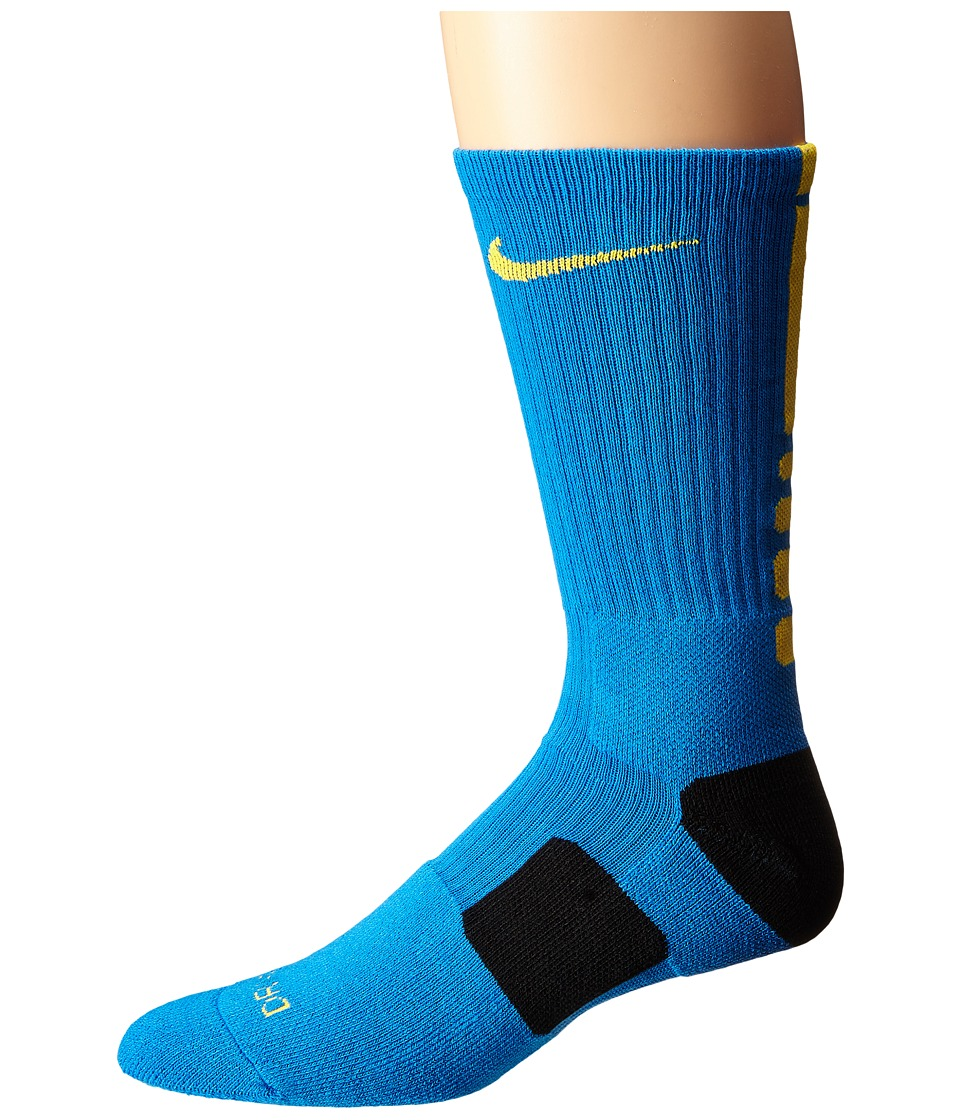 Nike - Elite Basketball Crew (Light Photo Blue/Laser Orange/Laser Orange) Crew Cut Socks Shoes