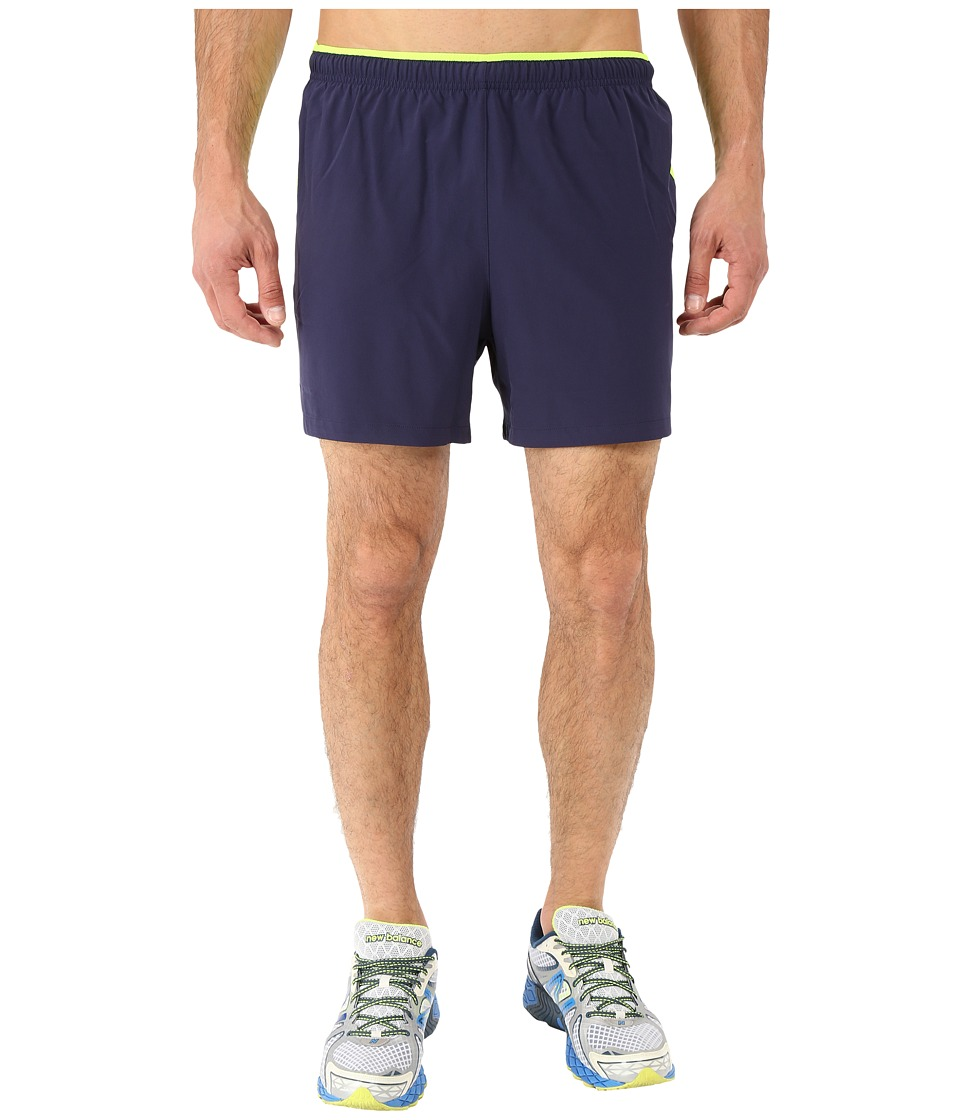 New Balance - Impact 5 Track Short (Abyss/Toxic) Men's Shorts